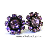 Swarovski Light Amethyst Stud Earrings