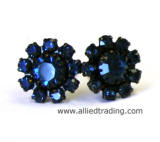 Swarovski Stud Earrings, Montana color