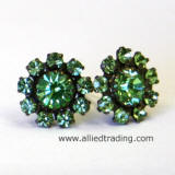 Swarovski Peridot Stud Earrings, CE109L series