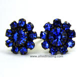 Sapphire Swarovski Elements Stud Earrings