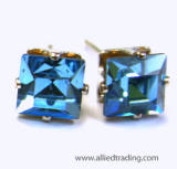 ar47 swarovski xilion squre stud earrings