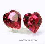 item # ar570 swarovski crystal heart stud earrings