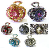 wholesale hair accessories, swarovski elements hair claw clips