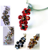 Wholesale cluster crystal necklace
